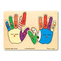 Melissa & Doug Hands Counting Peg Puzzle