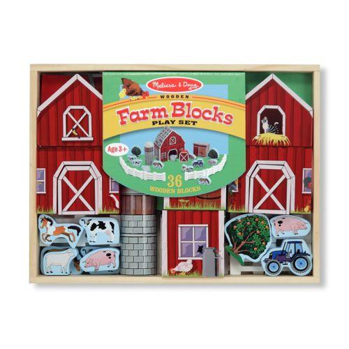 Melissa and Doug Farm Blocks Play Set