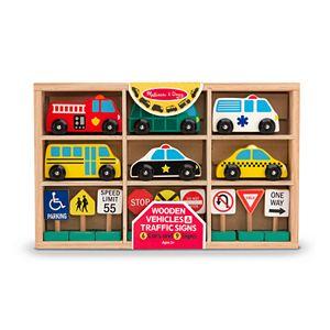 Melissa /& Doug Deluxe Wooden Parking Garage Play Set 4595