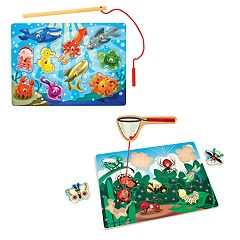 Melissa & Doug Fishing & Bug Catching Magnetic Game Bundle