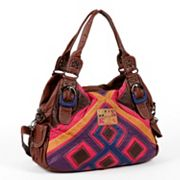 Nicole Lee Esther Distressed Patchwork Convertible Hobo