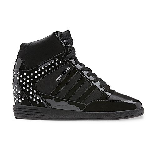 a9285e9b824 adidas BBNEO by Selena Gomez Studded Wedge Sneakers - Women