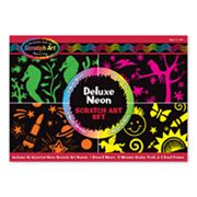 Melissa and Doug Scratch Art Deluxe Neon Set