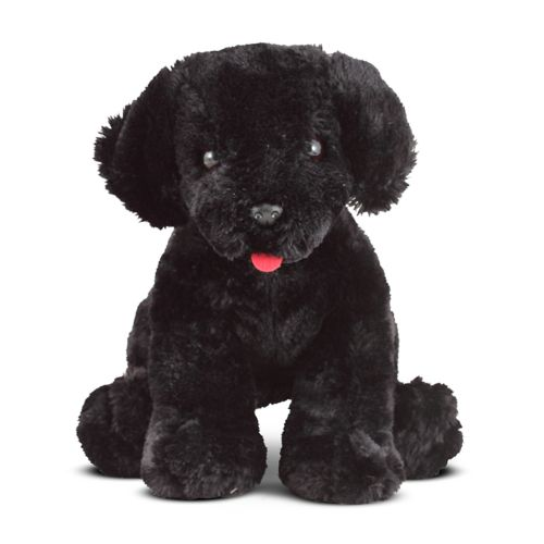 Melissa Doug Benson Black Lab Puppy Dog Stuffed Animal