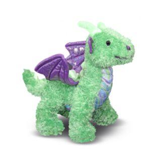 Melissa and Doug Zephyr Green Dragon Stuffed Animal