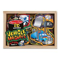 Melissa & Doug 20-pk. Wooden Vehicle Magnets