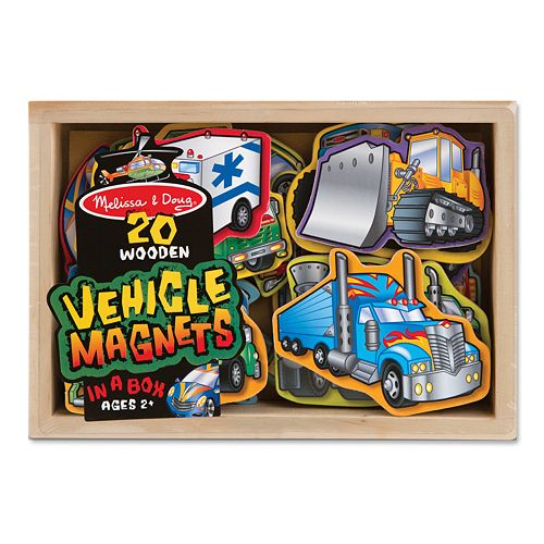 Melissa & Doug 20-pk. Wooden Vehicle Magnets