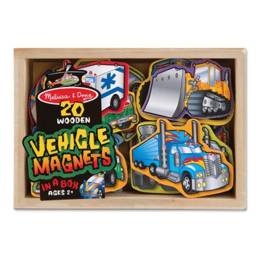 Melissa and Doug 20-pk. Wooden Vehicle Magnets