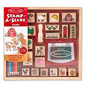 Melissa & Doug Stamp-A-Scene Farm Set