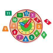 Melissa & Doug Wood Shape Sorting Clock