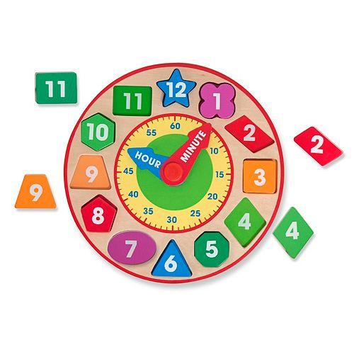 Melissa & Doug Wood Shape Sorting Clock