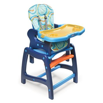 Badger Basket Convertible High Chair & Play Table - Blue