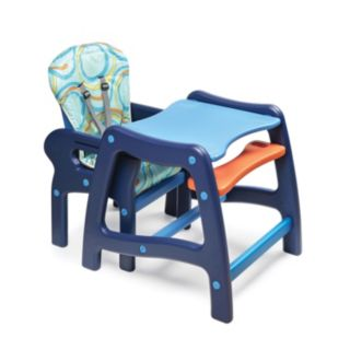 Badger Basket Convertible High Chair and Play Table - Blue