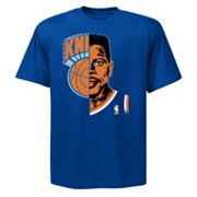 Majestic New York Knicks Patrick Ewing Hardwood Classics Logo Man Tee - Men