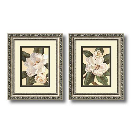 2-pc. ''Magnolias'' Framed Wall Art Set by Waltraud Fuchs Von Schwarzbek