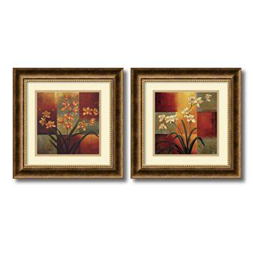 2-pc. ''Orchids'' Framed Wall Art Set by Jill Deveraux