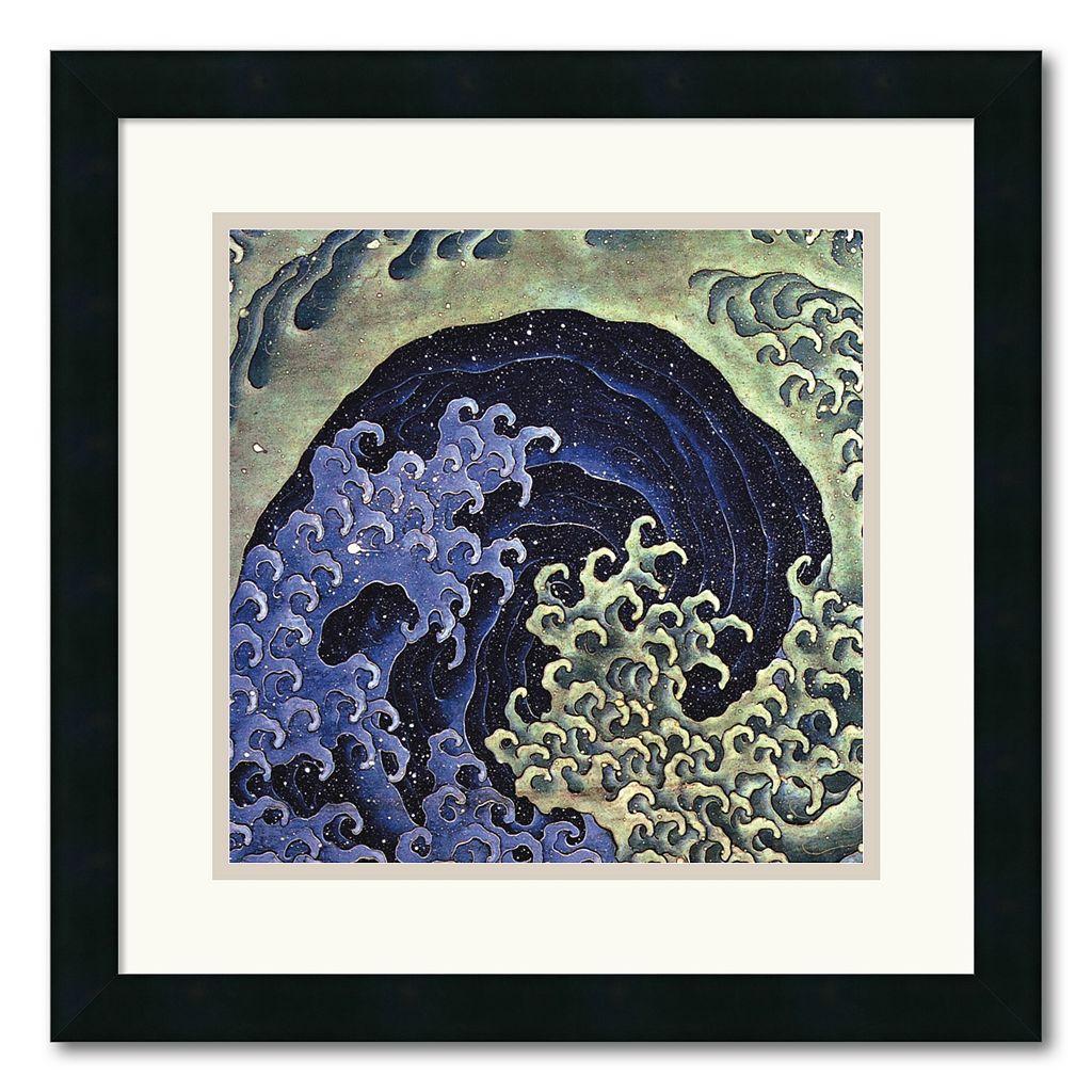 ''Feminine Wave'' Framed Wall Art by Katsushika Hokusai