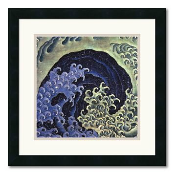 ''Feminine Wave'' Framed Wall Art by Katsushika Hokusai
