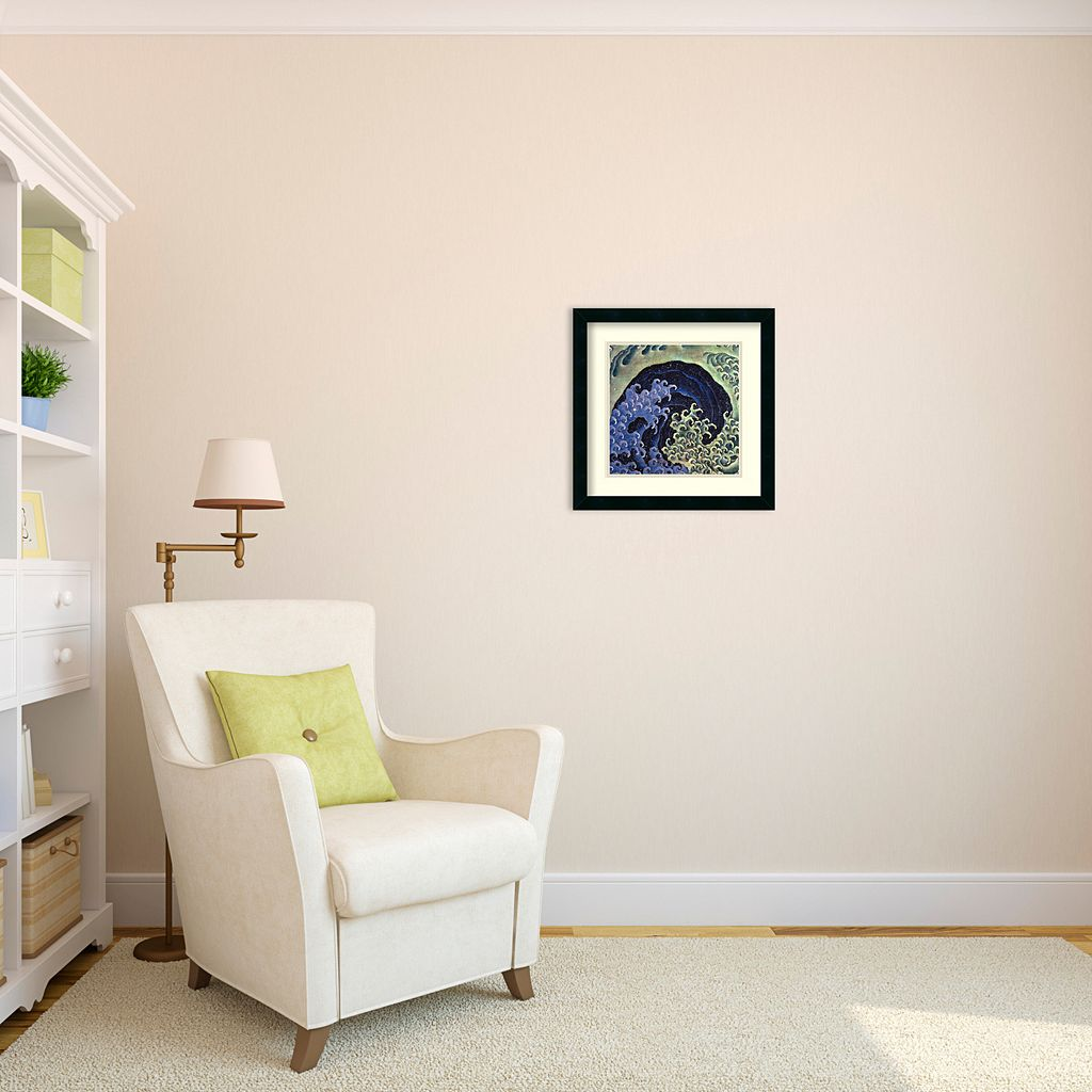 Feminine Wave Framed Wall Art by Katsushika Hokusai