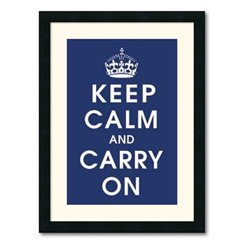 ''Keep Calm'' Framed Wall Art by Vintage Repro