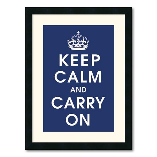 Keep Calm Framed Wall Art by Vintage Repro