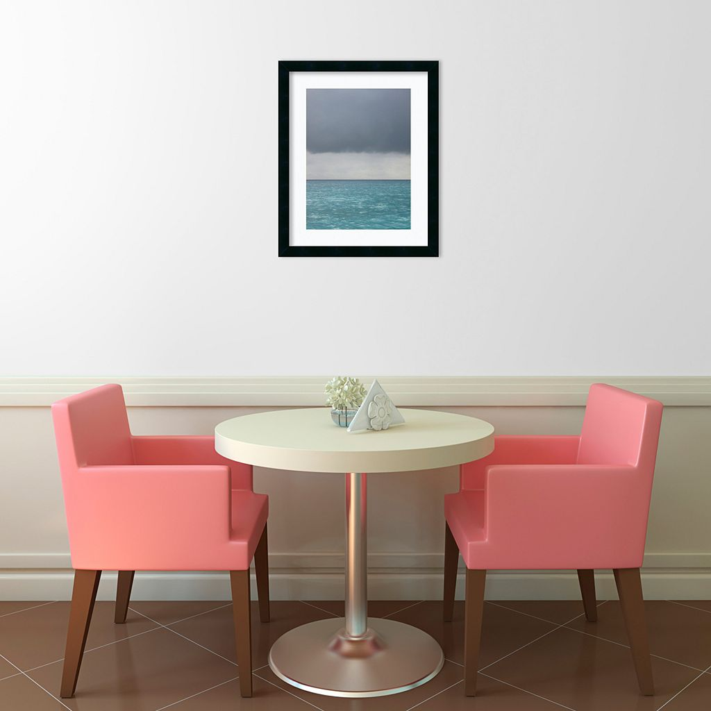 Bleu 8 Framed Wall Art by Brian Leighton