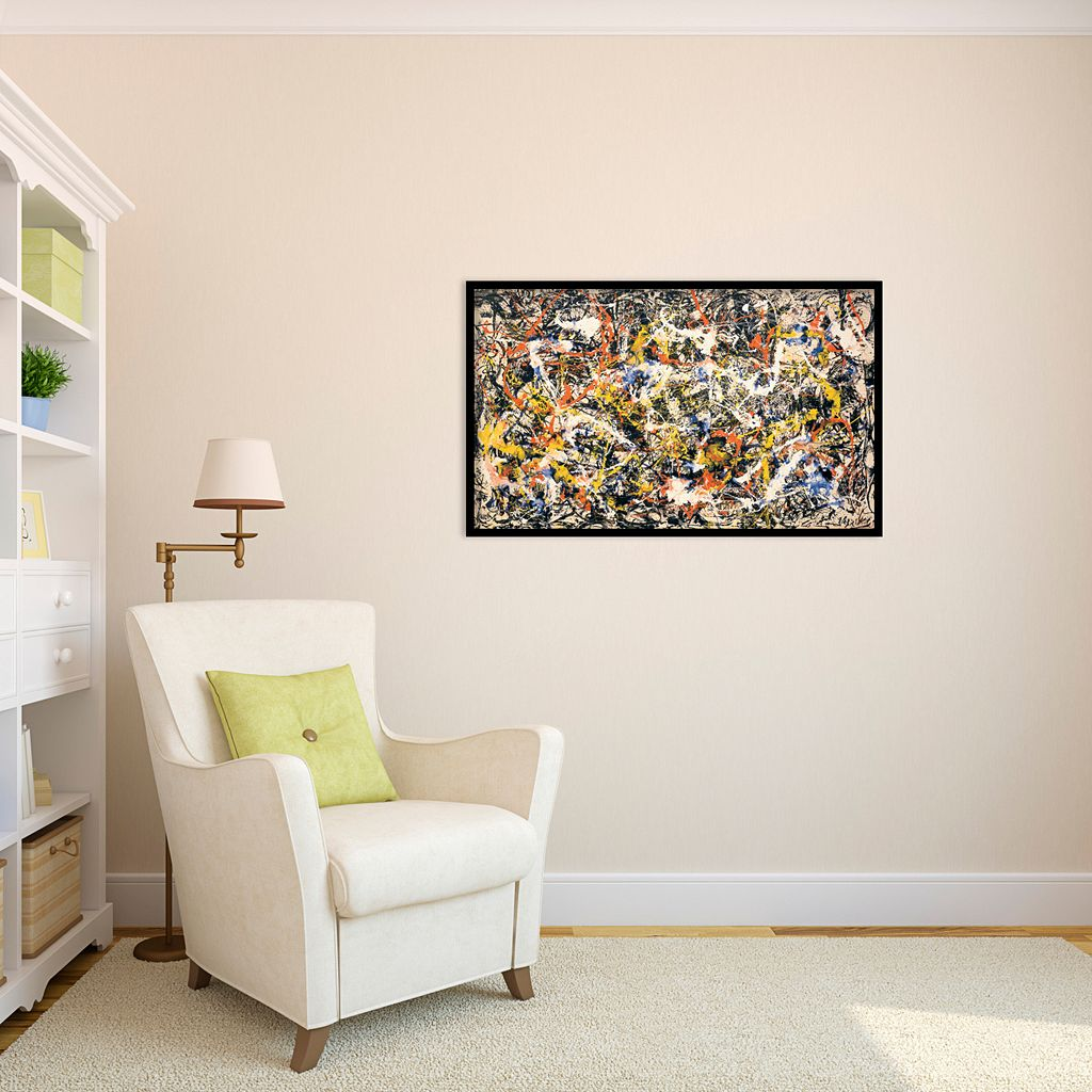 Convergence Framed Wall Art by Jackson Pollock