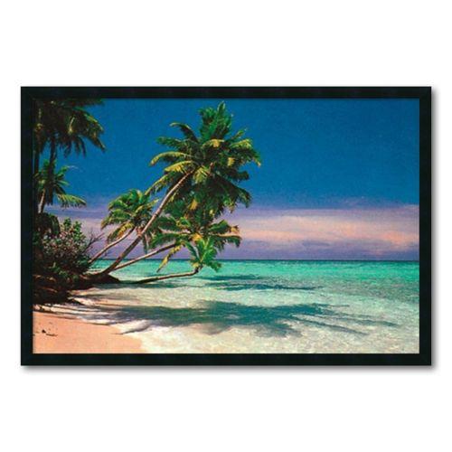 """Tropical Beach"" Framed Wall Art"