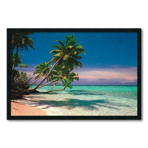''Tropical Beach'' Framed Wall Art