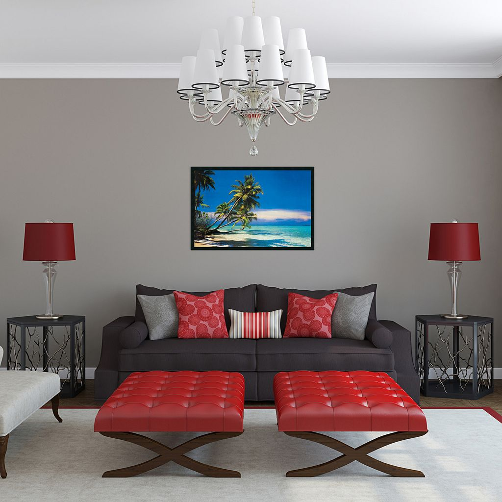 ''Tropical Beach'' Framed Wall Art
