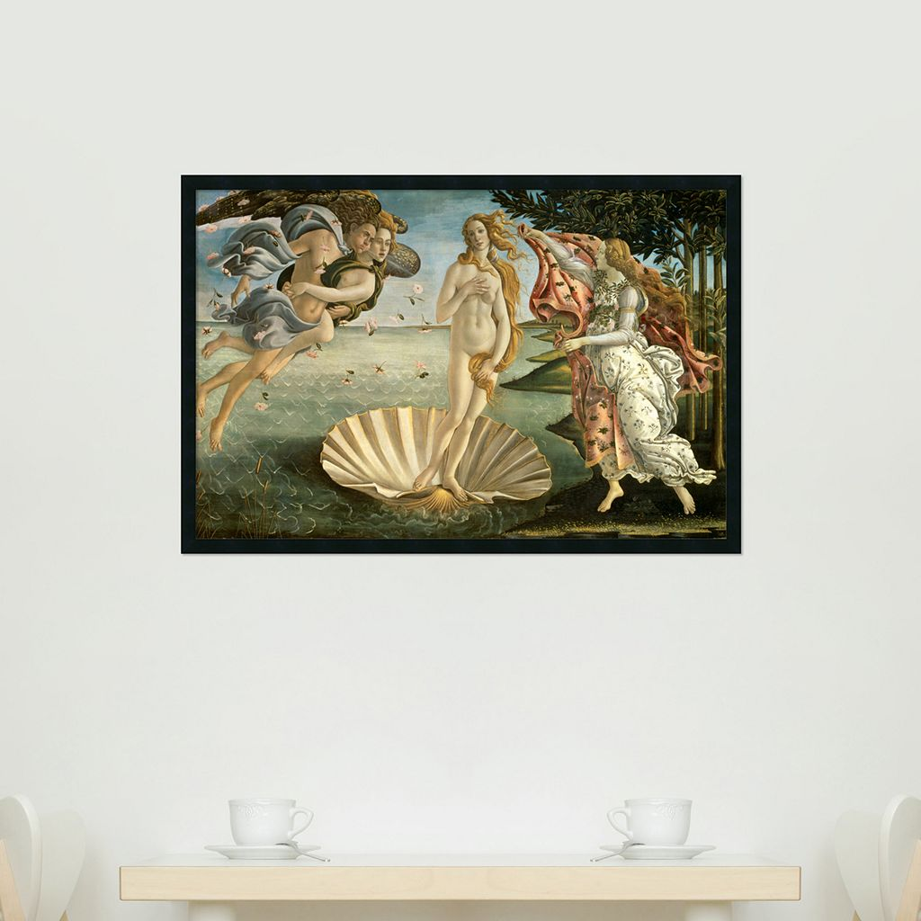 The Birth of Venus Framed Wall Art by Sandro Botticelli