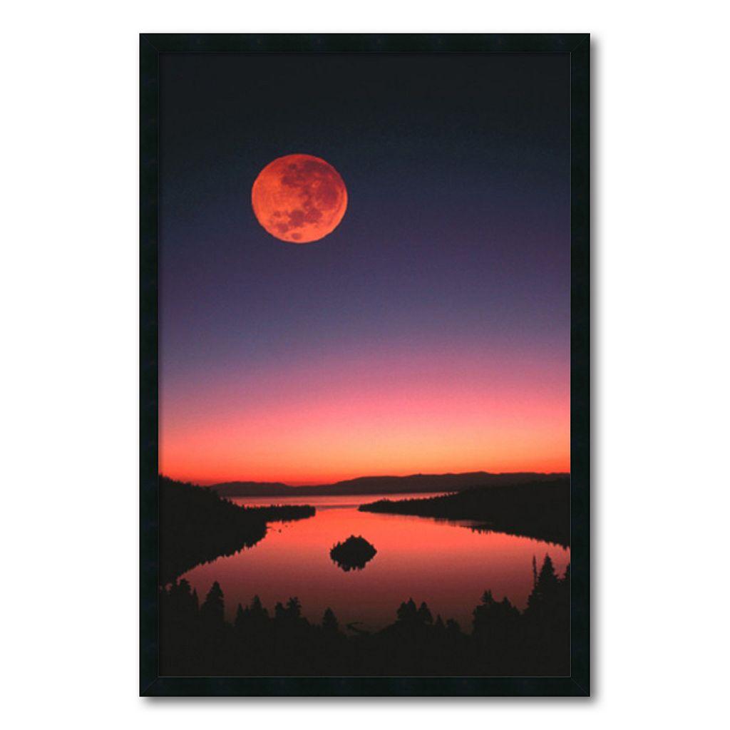 ''Lake Tahoe at Night'' Framed Wall Art