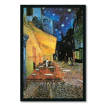 ''Cafe Terrace at Night'' Framed Wall Art by Vincent van Gogh