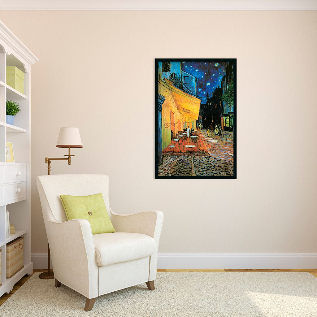 Cafe Terrace at Night Framed Wall Art by Vincent van Gogh