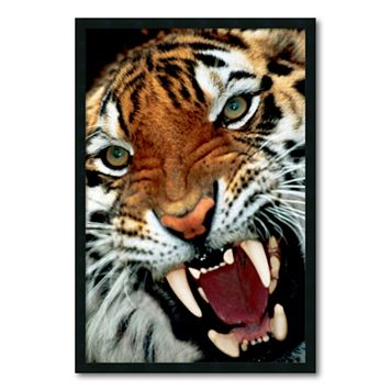 ''Bengal Tiger Close-Up'' Framed Wall Art