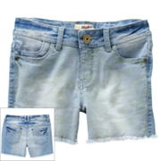 Mudd Camouflage Denim Shorts - Girls Plus
