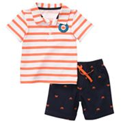Carter's Striped Polo and Crab Shorts Set - Toddler