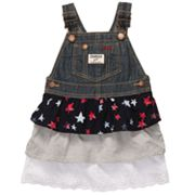 OshKosh B'gosh Tiered Star Denim Jumper - Toddler
