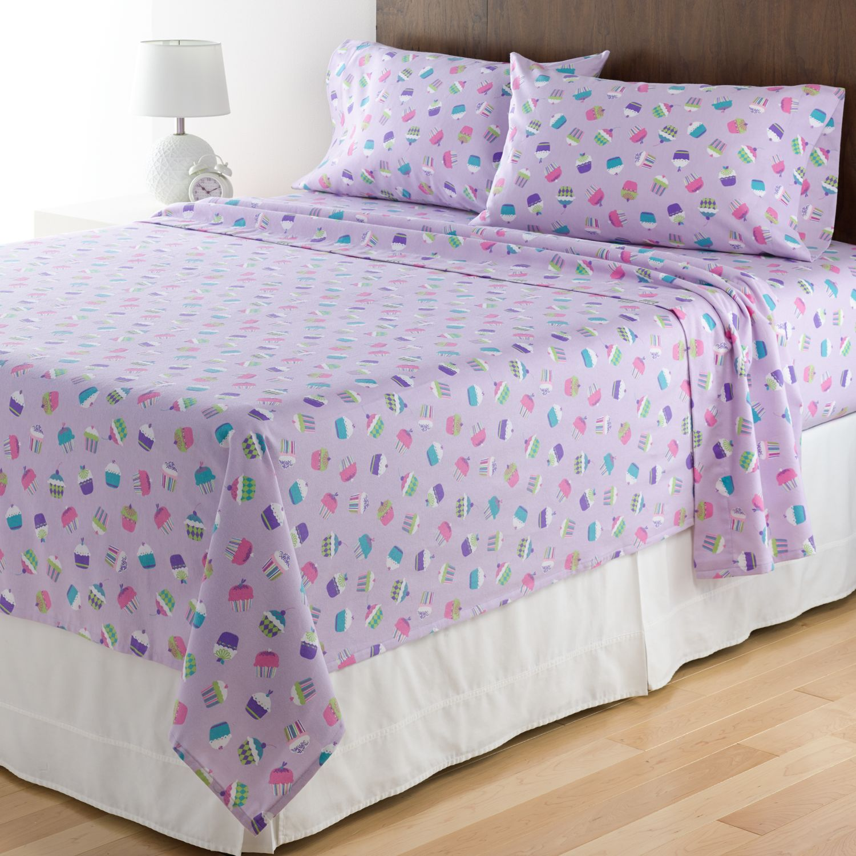 Charmant Home Classics® Cupcake Flannel Sheet Set   Twin