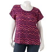 SONOMA life + style Chevron Braided Tee - Women's Plus