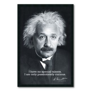 ''Einstein Curiousity'' Framed Wall Art