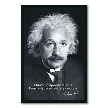 ''Einstein Curiousity'' Framed Wall Art