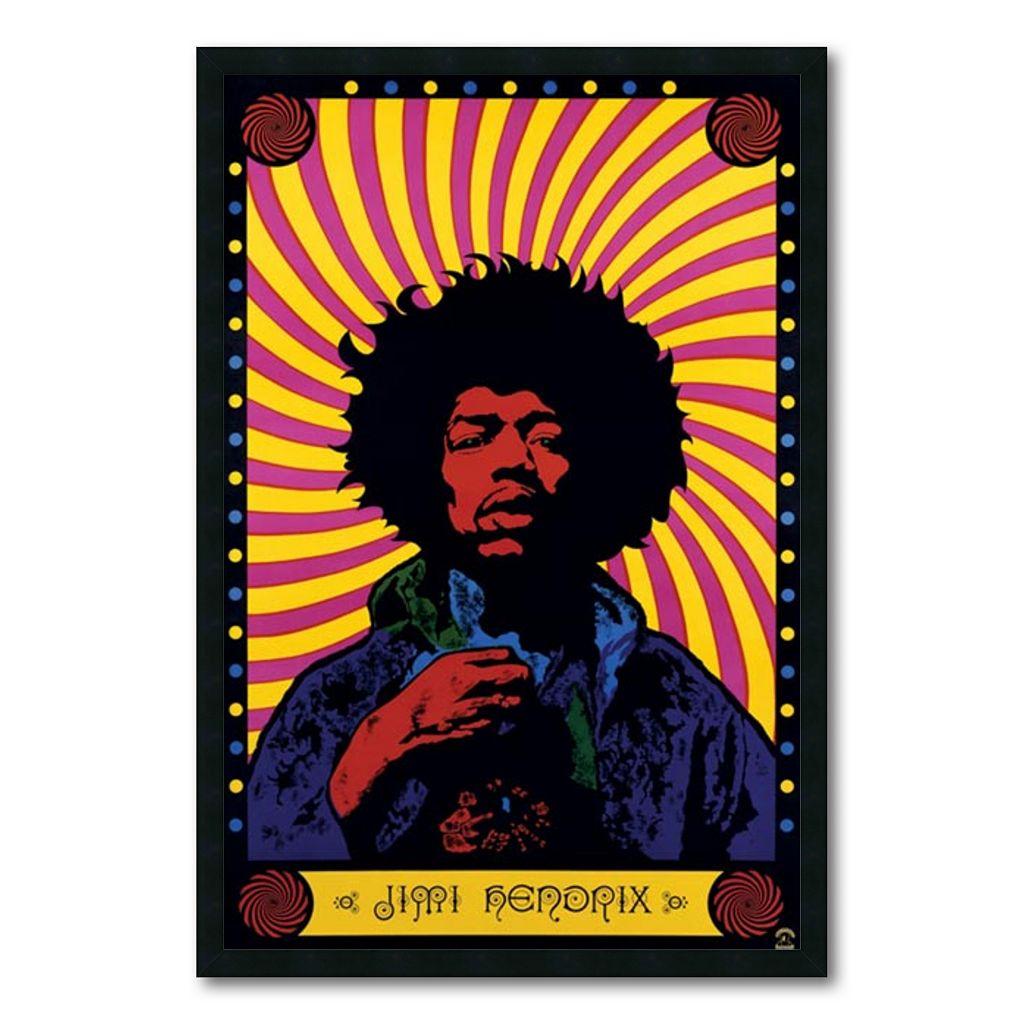 ''Jimi Hendrix - Psychedelic'' Framed Wall Art