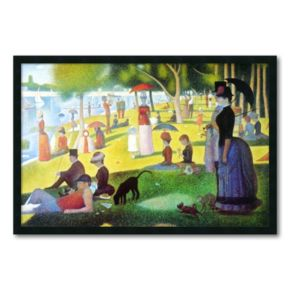 La Grande Jatte Framed Wall Art by Georges Seurat