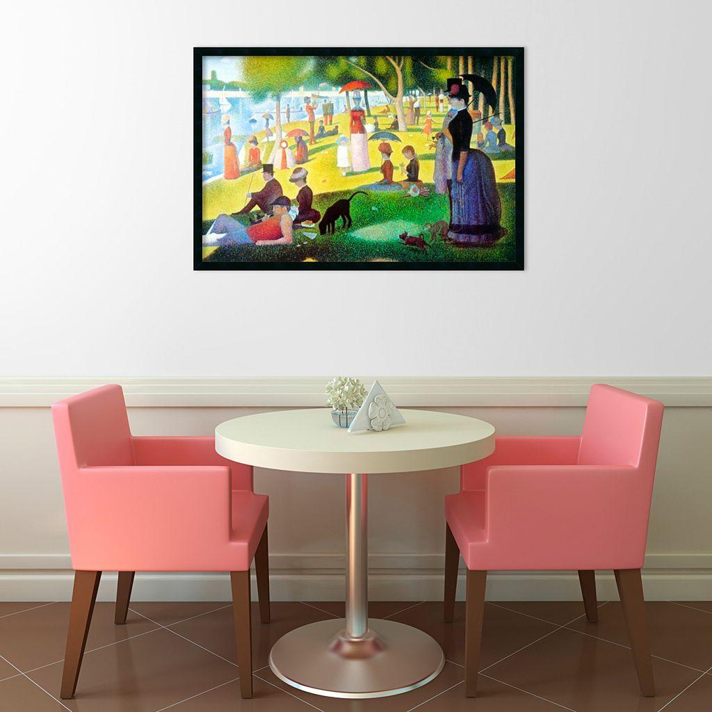 La Grande Jatte Framed Wall Art by Georges Seurat