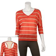 IZ Byer California Stripe Open-Back Dolman Top - Juniors