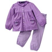 Chaps Ruffled Cardigan and Pants Set - Baby