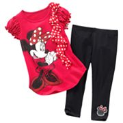 Disney Mickey Mouse and Friends Minnie Mouse Tee and Leggings Set - Girls 4-6x