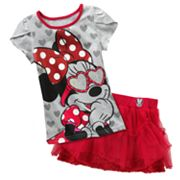 Disney Mickey Mouse and Friends Minnie Mouse Tee and Skirt Set - Girls 4-6x