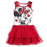 Disney Mickey Mouse and Friends Minnie Mouse Layered Dress - Girls 4-6x